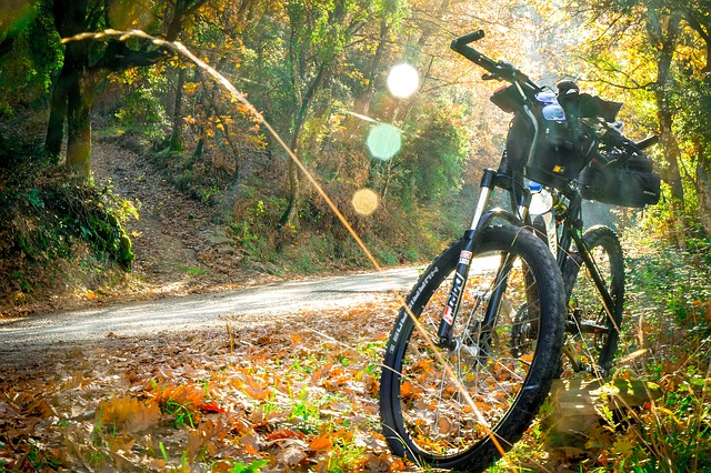 Cycling in the Sierra de Guadarrama.